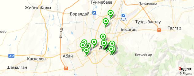 спортивные школы на карте Алматы