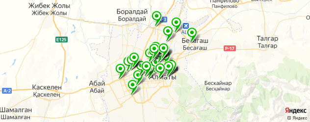 доставка шин на карте Алматы