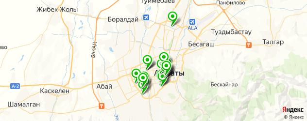 общежития на карте Алматы