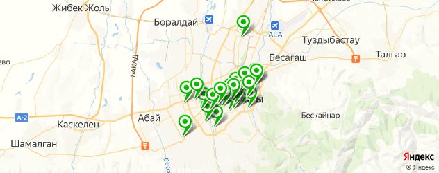 курсы на карте Алматы