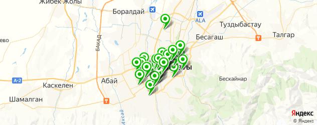 лаборатории анализов на карте Алматы
