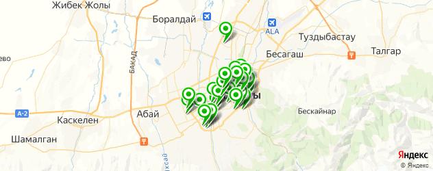 детские стоматологические поликлиники на карте Алматы