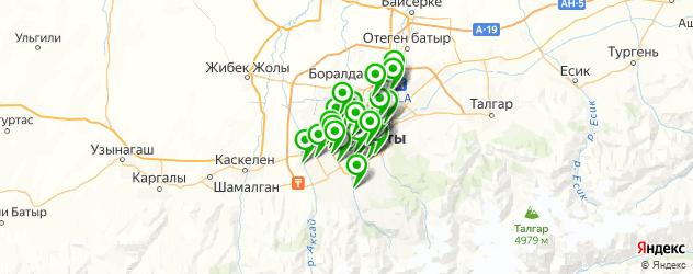 отделения Почты России на карте Алматы