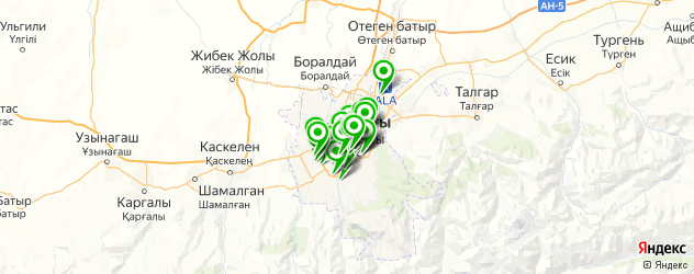 агентства праздников на карте Алматы