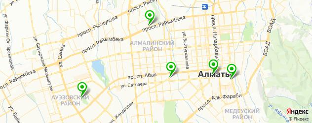 боулинги на карте Алматы