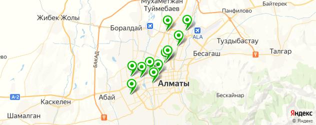 грузовые шиномонтажи на карте Алматы
