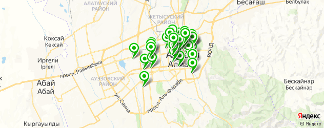 ночные клубы на карте Алматы