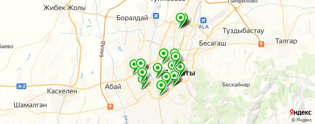 детские развлекательные центры на карте Алматы