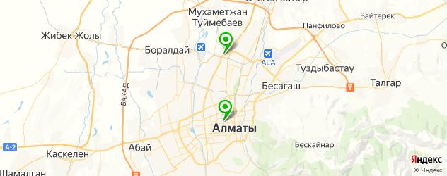 б/у шины на карте Алматы