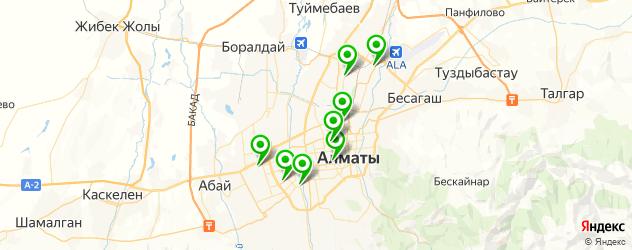 магазины запчастей Тойота на карте Алматы