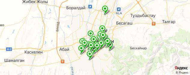 спортивные секции на карте Алматы
