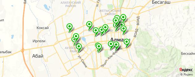 ортопедические магазины на карте Алматы