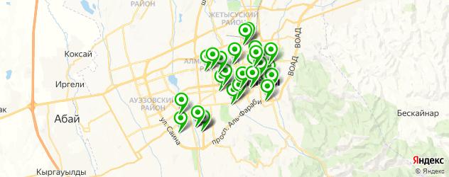 Образование и развитие на карте Алматы