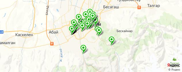массажные салоны на карте Алматы