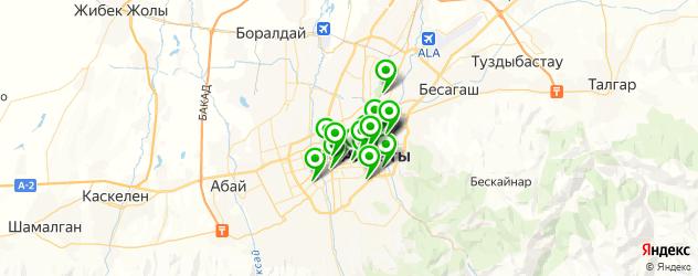 театры на карте Алматы