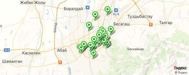 детские сады на карте Алматы