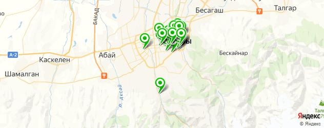 салоны красоты на карте Алматы