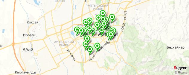 бары с танцполом на карте Алматы