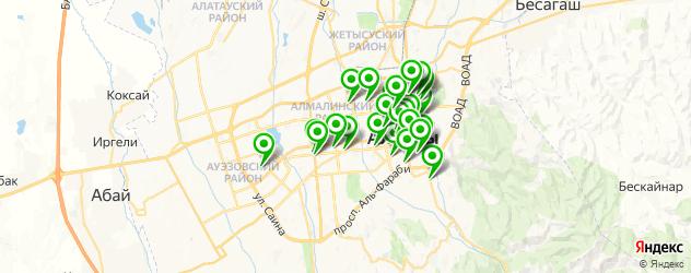 бары на карте Алматы