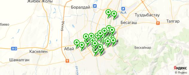 школы на карте Алматы