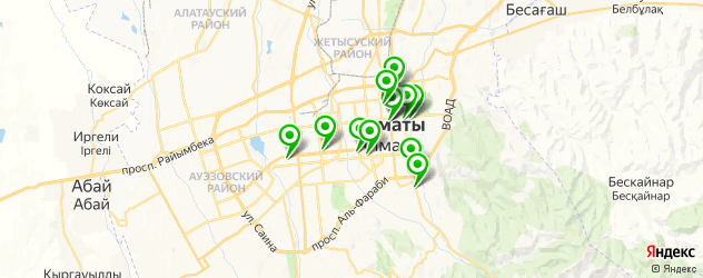 картинные галереи на карте Алматы