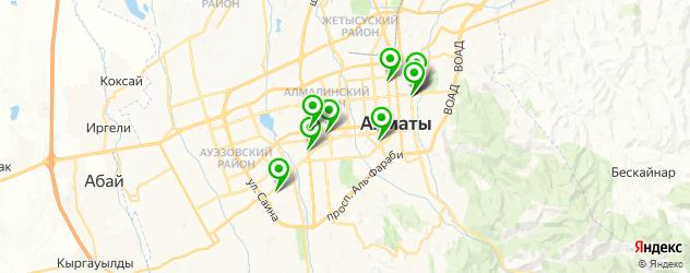 кальянные на карте Алматы