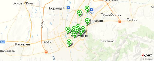 детские поликлиники на карте Алматы