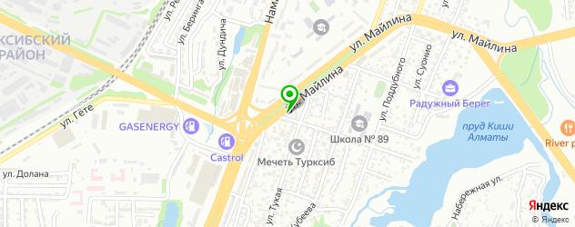 магазины аккумуляторов на карте Алматы