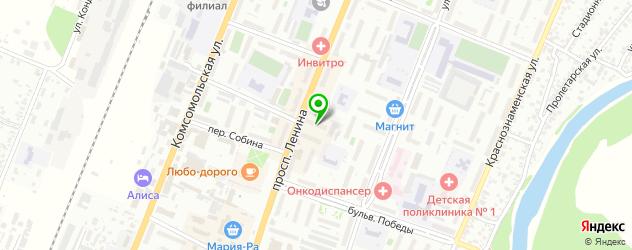 автоуслуги на карте Рубцовска