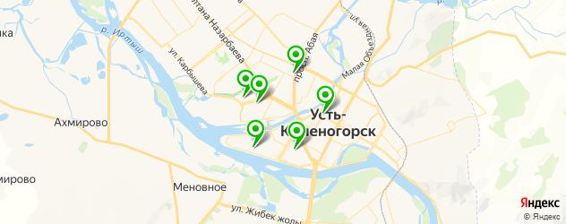 женские фитнес-клубы на карте Усть-Каменогорска