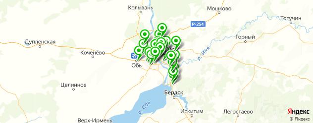 отделения Почты России на карте Новосибирска