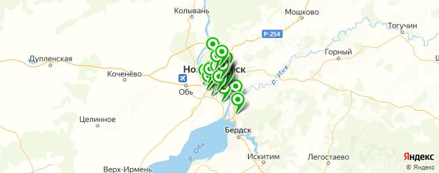 мотосервисы на карте Новосибирска