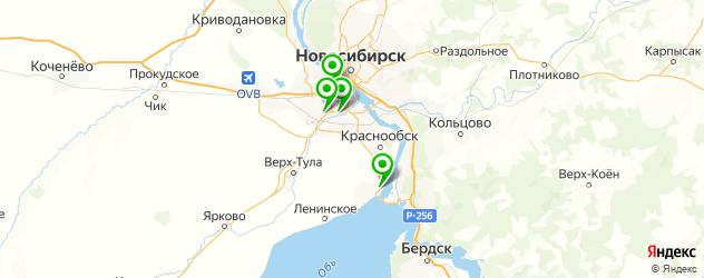 официальные дилеры Сузуки на карте Новосибирска
