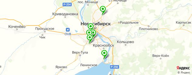 официальные дилеры Опель на карте Новосибирска