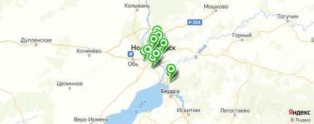 меховые ателье на карте Новосибирска