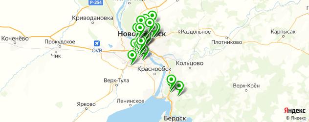 автоэкспертизы на карте Новосибирска