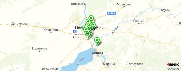 банкоматы с функцией приема наличных на карте Новосибирска
