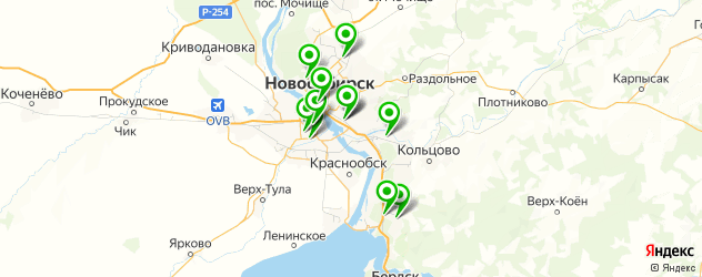 отделение реабилитации на карте Новосибирска