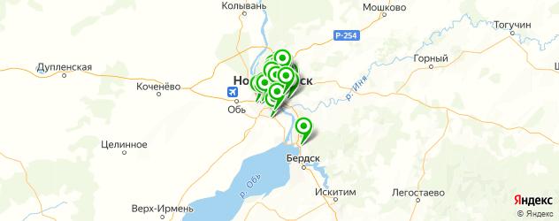 компьютерные помощи на карте Новосибирска