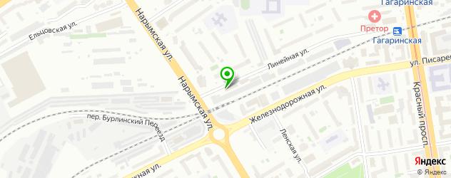 автоматическая мойка на карте метро Красный проспект