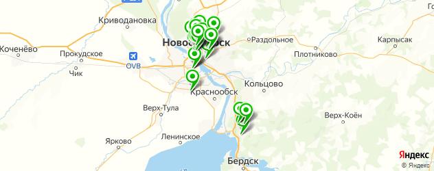 Доставка тортов на карте Новосибирска