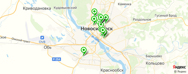 аварийные комиссары на карте Новосибирска