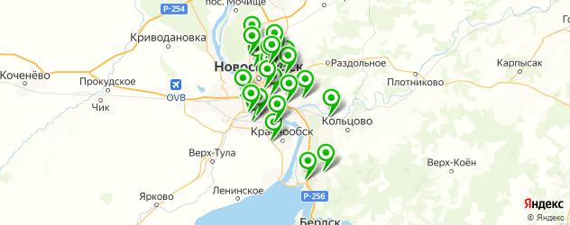 подзарядка аккумулятора на карте Новосибирска
