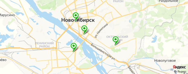пицца на тонком тесте на карте Новосибирска