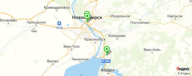 ЭКО по ОМС на карте Новосибирска