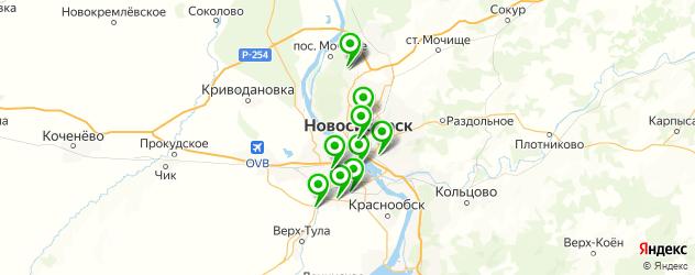авторынки на карте Новосибирска