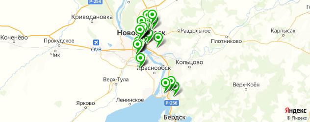 ортодонт на карте Новосибирска