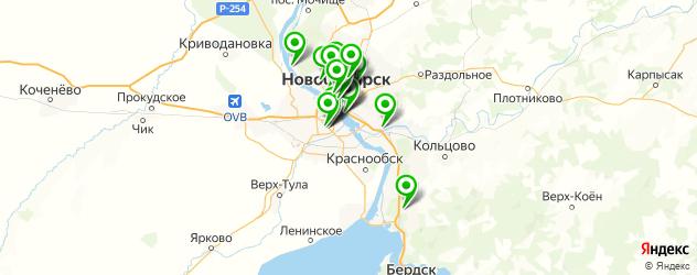 Развлечения на карте Новосибирска