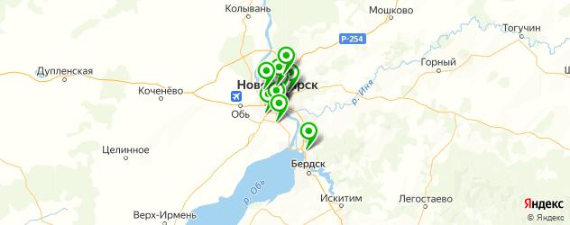 кинотеатры на карте Новосибирска