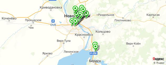 тату салон на карте Новосибирска